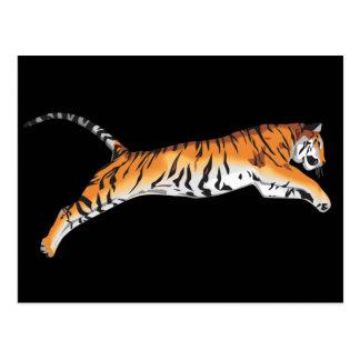 Springen des Tigers Postkarte