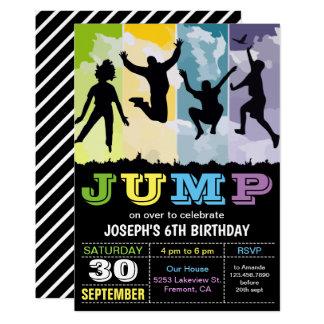 Springen Sie Schlag-Haus-Trampoline-Party, das Karte