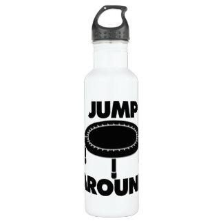 Springen Sie um Trampoline Edelstahlflasche