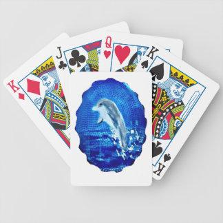 Springen von Delphin-Kunst Bicycle Spielkarten