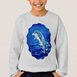 Springen von Delphin-Kunst Sweatshirt