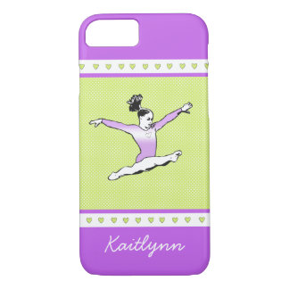 Springen von Gymnast mit Monogramm iPhone 8/7 Hülle