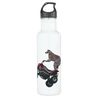 Springen von Lemur Edelstahlflasche
