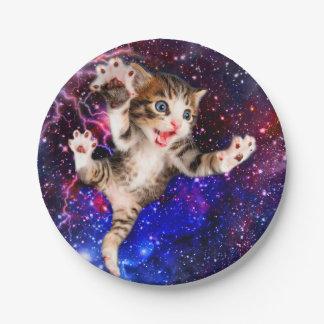 Springende - niedliche Katzen - verrückte Katze Pappteller