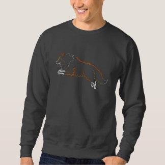 Springendes Zobel-Sheltie gesticktes Sweatshirt
