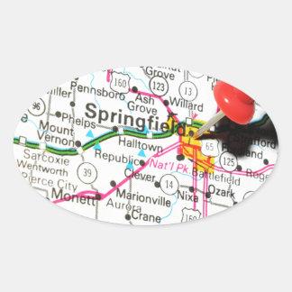 Springfield, Illinois Ovaler Aufkleber