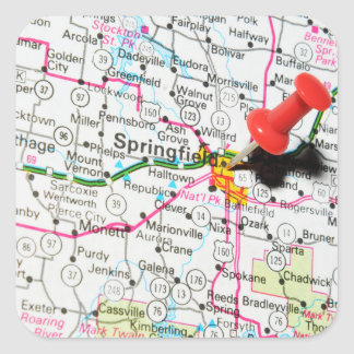 Springfield, Illinois Quadratischer Aufkleber