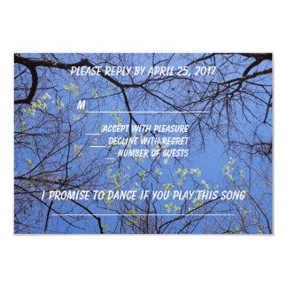 Sprint-Baum-uAwg mit Lied-Antrag 8,9 X 12,7 Cm Einladungskarte