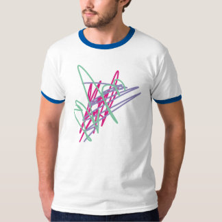 Spritzen-Gemischkunst der 80er-T - Shirtachtziger T-Shirt