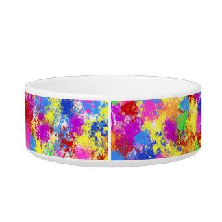 Spritzer-Farben-Regenbogen-heller bunter Napf
