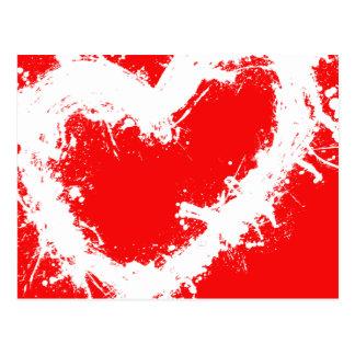 Spritzer-Herz Postkarte