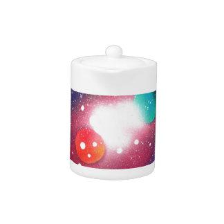 Sprühfarbe-Kunst-Raum-Galaxie-Malerei
