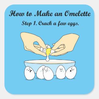 Sprung-EIn-wenig-Eier Quadratischer Aufkleber