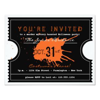 Spuk Halloween-Karten-Party Einladung