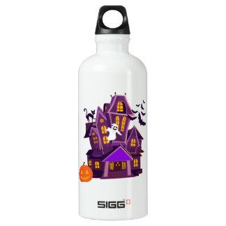 Spuk Haus Halloweens A! Gespenstischer Spaß! Wasserflasche