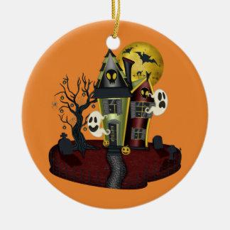 Spuk Haus Halloweens Keramik Ornament