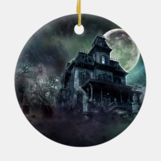 Spuk Haus Keramik Ornament