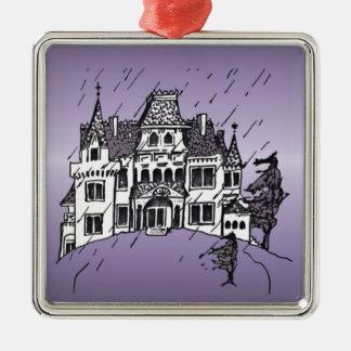 Spuk Haus Silbernes Ornament