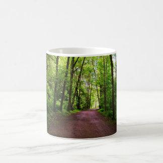 Spur im Holz Kaffeetasse