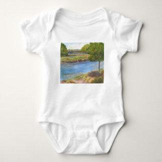 squamscott Fluss an den newfields am 31. Juli 2015 Baby Strampler