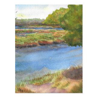squamscott Fluss an den newfields am 31. Juli 2015 Postkarte