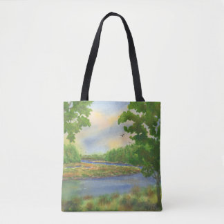 Squamscott Fluss Newfields NH Tasche
