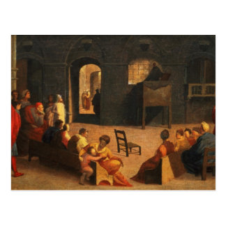 St. Bernardino von Siena-Predigen Postkarte