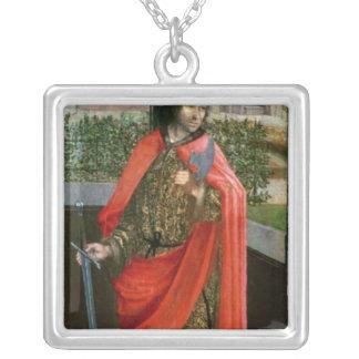 St. Crispin, 16. Jahrhundert Halskette Mit Quadratischem Anhänger
