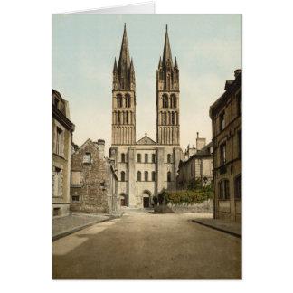 St.- Etiennekirche, Caen, Frankreich Karte