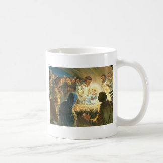St Francis mit Kaffeetasse