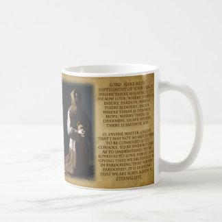 St Francis von Assisis Gebet Kaffeetasse