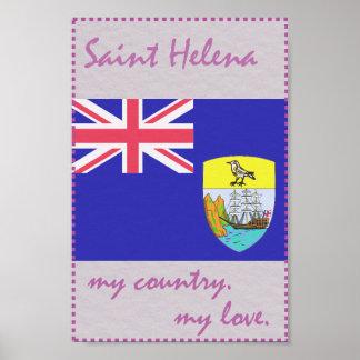 St. Helena mein Land meine Liebe Poster