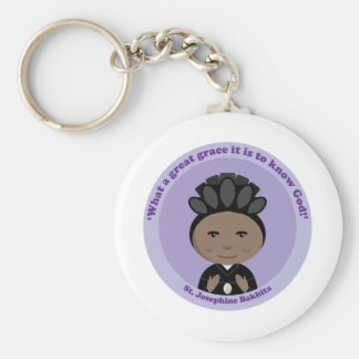 St. Josephine Bakhita Standard Runder Schlüsselanhänger
