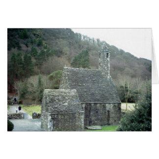 St.Kevins Kirche, Glendalough, Co.Wicklow, Irland Grußkarte