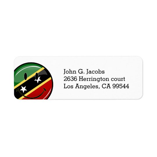 St. Kitts und lächelnde Gesichts-Flagge Nevis Rücksende Aufkleber
