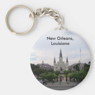St.- Louiskathedrale Standard Runder Schlüsselanhänger