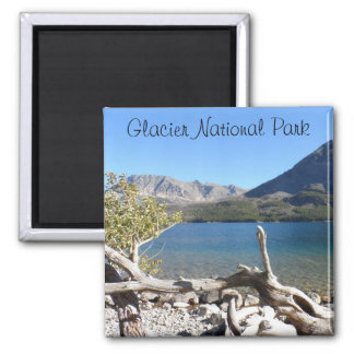 St Mary See-Glacier Nationalpark Quadratischer Magnet
