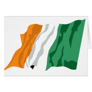 St Patrick Irland-Flaggen-Karte Grußkarte