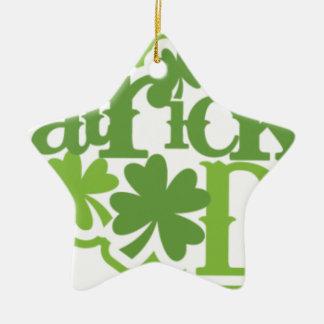 St Patrick Tag, Heiliger Patrick-Irenentwurf Keramik Stern-Ornament