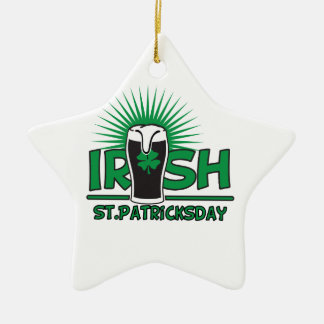 St Patrick Tag Keramik Stern-Ornament