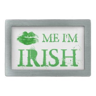 St Patrick Tag küssen mich, den ich irische grüne Rechteckige Gürtelschnalle