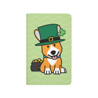 St Patrick Tagescorgi-Kobold-Hundewelpen-Hündchen Taschennotizbuch