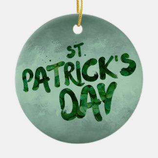 St Patrick Tagesgrün-Kleeirischer Celtic Keramik Ornament
