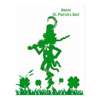 St Patrick Tageskobold-Postkarte Postkarte