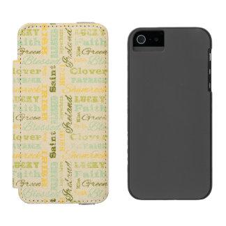 St Patrick TagiPhone Geldbörsen-Kasten Incipio Watson™ iPhone 5 Geldbörsen Hülle