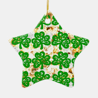 ST. PATRICKS DAY KERAMIK Stern-Ornament