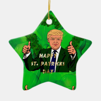 St. patricks Tag Donald Trump Keramik Stern-Ornament