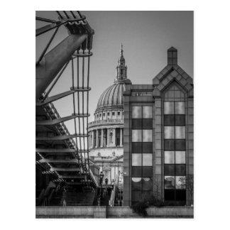 St Paul Kathedrale u. Jahrtausend-Brücke, London Postkarte