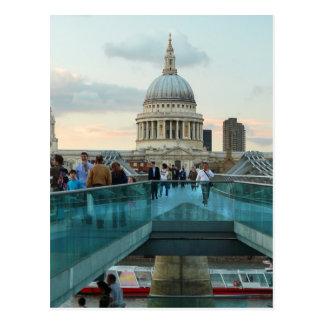 St Paul Kathedrale und Jahrtausend-Brücke, London Postkarte