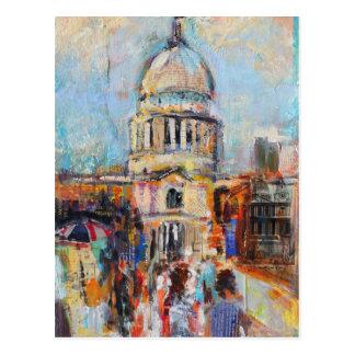 St Paul von der Jahrtausend-Brücke Postkarte